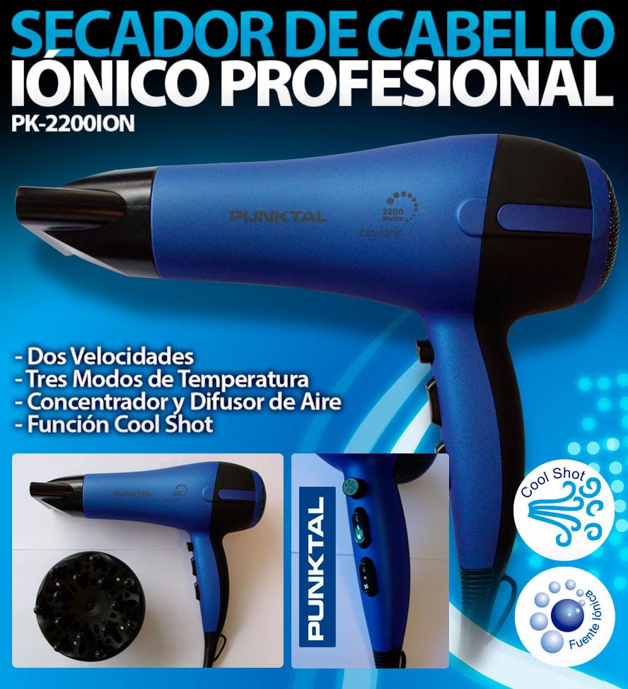 Secador de cabello Punktal iónico profesional 2200w 0e99e4b1759d